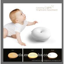 Nuevo diseño de luz cálida USB bebé cambio llevó la luz de mesa