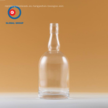 Vodka Bottle Round Shape Transparent Clear Glass