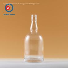 Bouteille de Vodka Forme ronde Transparent Verre clair