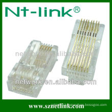 2 pieces gold plated rj45 plug