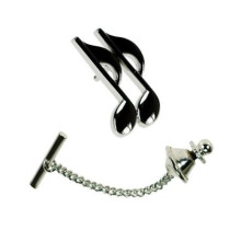 Music Musical Note Lapel Pin With Broszka Pendant