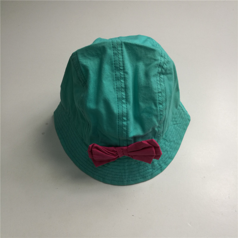 Children Cheap Blank Bowtie Bucket Hat