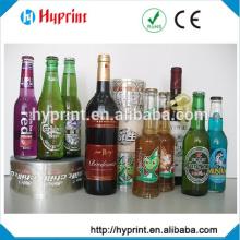 Custom clear sticker for glass bottle