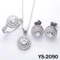 Fashion Jewelry Diamond Jewelry Set in 925 Silver.