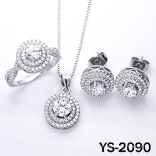 Modeschmuck Diamant-Schmuck-Set in 925 Silber.