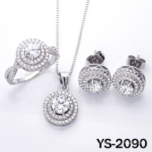 Fashion Jewelry Diamond Jewelry Set in 925 Silver.