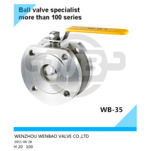 Casted Steel CF3 Wafer Ball Valve Dn200 Pn16