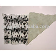 Dyed European rabbit skin tiger strip by white color fur plate