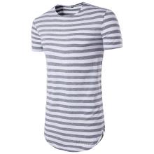 Stripes T-Shirt des neuen Entwurfs-Mannes, kurze Hülsen-beiläufige Kleidung