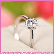 WR0003 flor quente venda anéis de prata esterlina 925