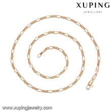 43664 dernière conception saoudie bijoux en or collier 20inch simple delicat plaqué or bijoux collier