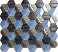 色の混合の芸術的なクリスタル ガラス モザイク タイル