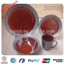 16pcs reactive glaze dinner set
