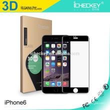 Para Iphone6 3D cobertura completa protetor de tela de vidro temperado de fibra de carbono, 0.2mm temperado protetor de tela de vidro para Iphone6