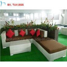 Canapé d'angle de salon en osier de style américain (2908)