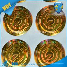 Haute qualité Alibaba Chine Protection de la marque Shenzhen ZOLO Label stiker display holographic