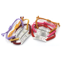 Aço inoxidável personalizado moda pulseiras e pulseiras