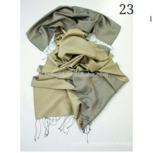 Pure Silk Solid Color Turkish Style Twill Weave Silk Long Shawl