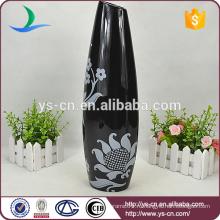 Черная антикварная настольная ваза