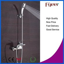 Wall Mounted Waterfall Bathtub Faucet with Hand Shower Head