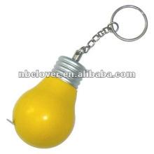 bulb shape plastic tape measure with keyring