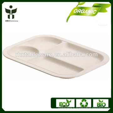 BPA free kids tray eco-friendly dinner plate for kids