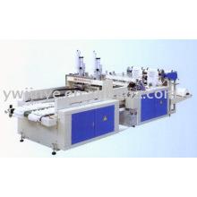 Dos líneas de alta velocidad automático impresión chaleco bolsa que hace la máquina