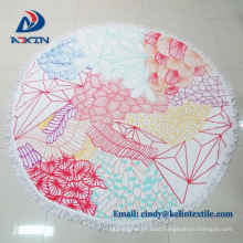 Promotion item round beach towel for shawl for wholesales
