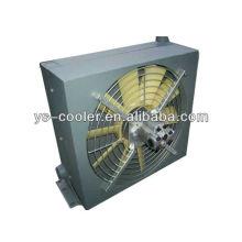 Intercambiador de calor del aceite hidráulico de la aleta de la placa de aluminio de 12v / 24v DC con el ventilador