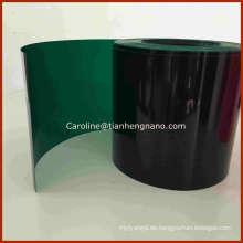 Grüne Farbe Starre PVC Film für Weihnachtsbaum verlassen und Girlande