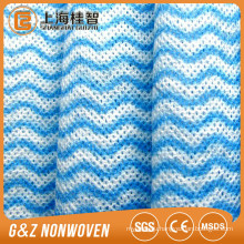 Half cross lapped yellow smooth lapping wave spunlace nonwoven fabric for compressed pads