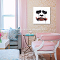 Modern Red Lip Wall Art/ Abstract Face of Women Canvas Print/Pop Canvas Wall Art