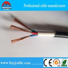 Rvv 3 ядра двойной оболочки гибкий круглый кабель электрический провод