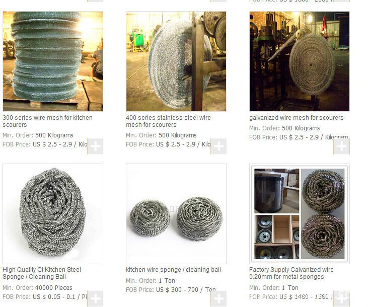 Price list Galvanized round wire scourer wire