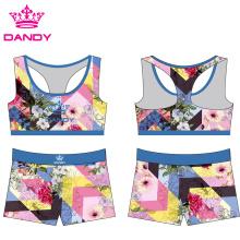 Custom Colorful Cheerleading Sublimation Sportswear