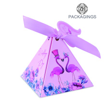 Paper candy gift packaging box with card
