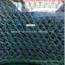 Galvanizado e PVC revestido Hexagonal Gabion Box