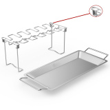 Chicken Wing & Leg Rack Stainless Steel Vertical Roaster Stand & Drip Pan