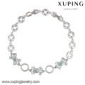 74341 bracelets archets simples professionnels CZ bracelet coloré en rhodium