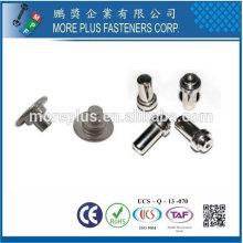 Rivage en acier inoxydable en acier inoxydable 2mm Rivets Rivets tubulaires pour le cuir