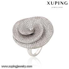 Moda de lujo CZ anillo de dedo de joyería de imitación chapado en rodio mujeres en forma de hongo -13867