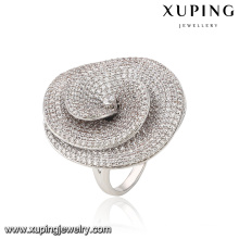 Fashion Luxury CZ Rhodium-Plated Women Imitation Jewelry Finger Ring Shaped with Mushroom -13867