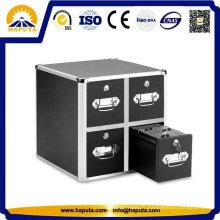Coffre de stockage en cas dur pour CD avec quatre tiroirs Hf-7004