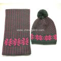 Snowflake Knitted Hat and Scarf