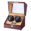 2 Slots Mechanical Display Wooden Watch winder