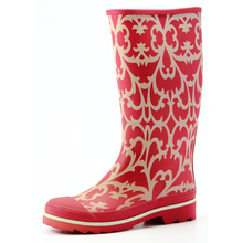 Basic Chrysanthemum Printing Women Rubber Boots