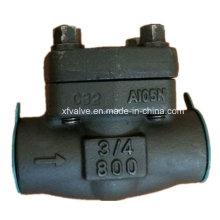 API602 Válvula de retención abatible NPT rosca A105 de acero al carbono forjado