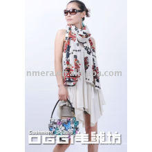 ladies' special printed 100% cashmere shawl
