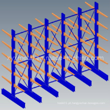 Tubo de armazenamento com braço único ou com braço duplo para cantilever Racks
