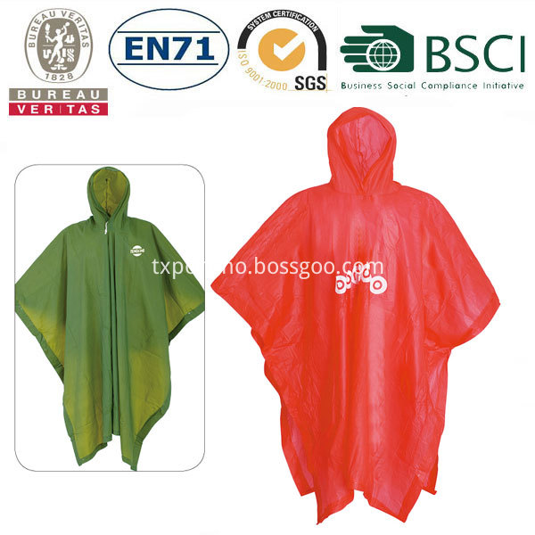 pvc rain poncho